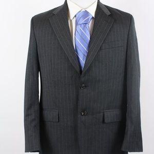 Ralph Lauren Charcoal Gray Pinstriped Blazer 40R